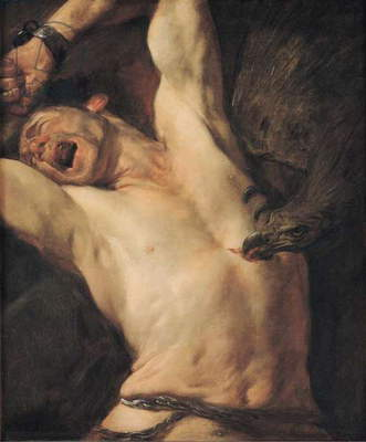 The Torture of Prometheus (oil on canvas)