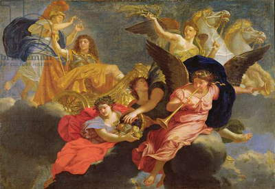 Apotheosis of King Louis XIV of France (oil on canvas)