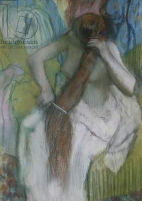 Woman Combing her Hair, 1887-90 (pastel on paper)