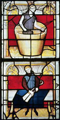 Cloth Merchant's Window (stained glass) (detail)