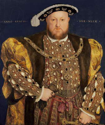 Portrait of Henry VIII (1491-1547) aged 49, 1540 (oil on panel)