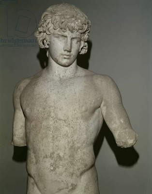 Figure of Antinous, after 130 AD (marble) (detail) (see also 65413)