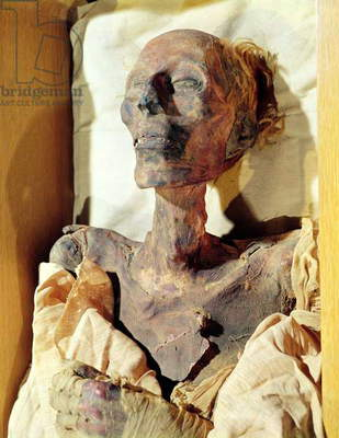 Mummified body of Ramesses II (1304-1237 BC) found in a tomb at Deir al-Bahri (photo)