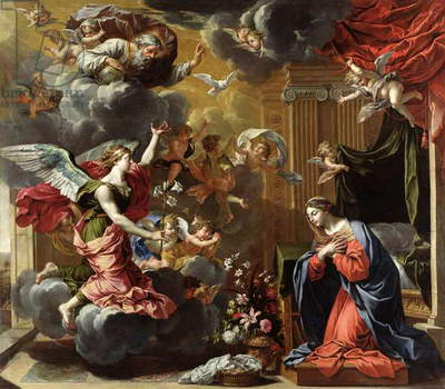 The Annunciation, 1651-52 (oil on canvas)