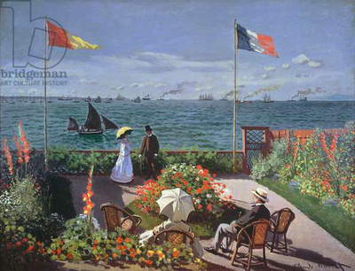 The Terrace at Sainte-Adresse, 1867 (oil on canvas)