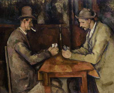 The Card Players, 1893-96 (oil on canvas)