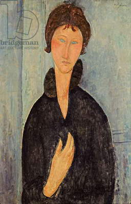 Woman with Blue Eyes, c.1918 (oil on canvas)