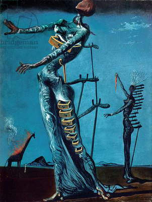 Flaming Giraffe, 1936-37 (oil on panel)