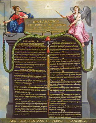 Declaration of the Rights of Man and Citizen, 1789 (oil on canvas)
