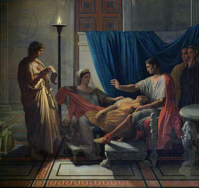 Virgil Reading the Aeneid to Livia, Octavia and Augustus, c.1812 (oil on canvas)