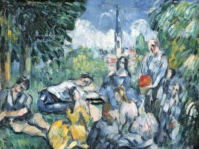 Dejeuner sur l'herbe, 1876-77 (oil on canvas) (also see 287550)