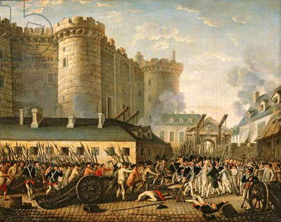 The Taking of the Bastille, 14 July 1789 (oil on canvas)