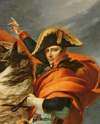Napoleon Crossing the Alps on 20th May 1800, 1803 (oil on canvas) (detail of 101627)