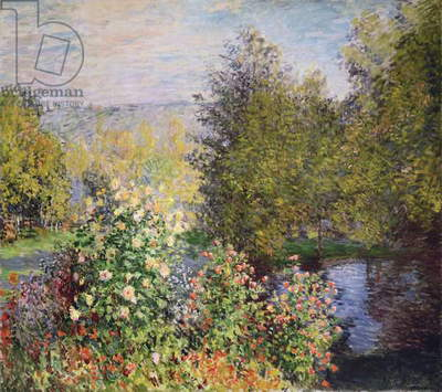 A Corner of the Garden at Montgeron, 1876-7 (oil on canvas)