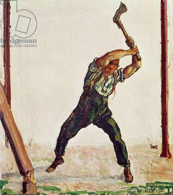 The Woodman, 1910 (oil on canvas)