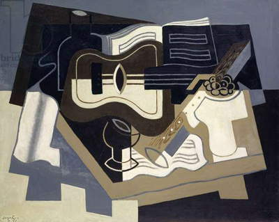 Guitar and Clarinet, 1920 (oil on canvas)