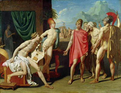 Ambassadors Sent by Agamemnon to Urge Achilles to Fight, 1801 (oil on canvas)