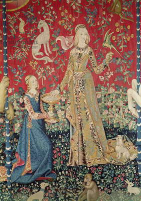 The Lady and the Unicorn: 'Taste' (tapestry) (detail of 11821)