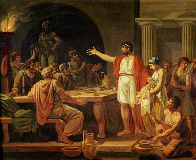 Study for Lycurgus Showing the Ancients of Sparta their King, 1791 (oil on canvas)