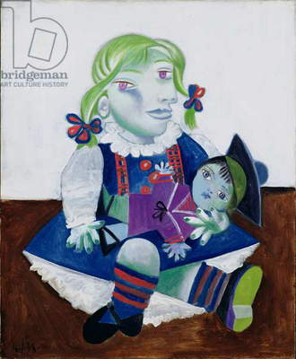 Maya with a Doll, 1938 (oil on canvas)