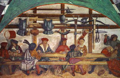 Interior of the Guard Room (fresco)