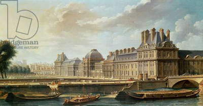 The Palace and Garden of the Tuileries, 1757 (oil on canvas)