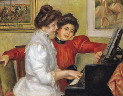 Yvonne and Christine Lerolle at the piano, 1897 (oil on canvas)