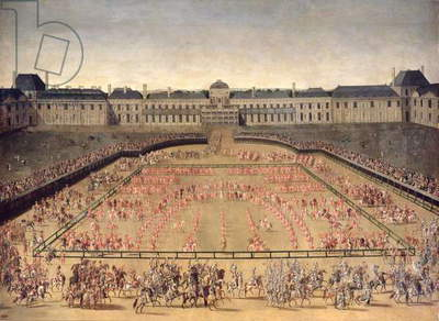 Carousel given for Louis XIV in the Court of the Palace of the Tuileries, 5th June 1662 (oil on canvas)