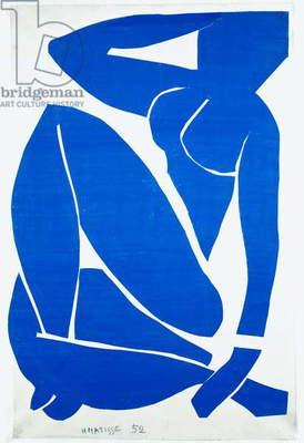 Blue Nude III, 1952 (gouache on paper)