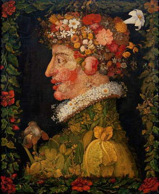 Spring, from a series depicting the four seasons, 1573 (oil on canvas)