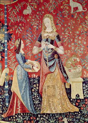 The Lady and the Unicorn: 'Smell' (tapestry) (detail of 11816)