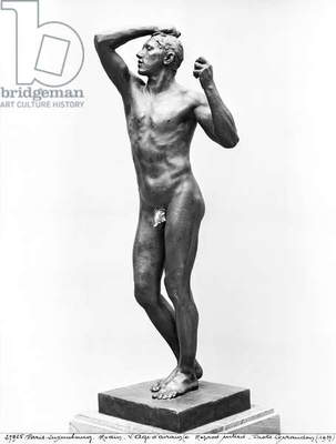 The Age of Bronze, after 1877 (bronze) (b/w photo) (see also 279784 & 86)