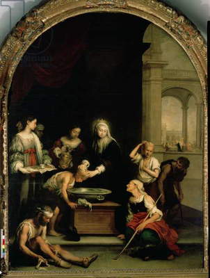 St. Elizabeth of Hungary tending the sick and leprous, c.1671-74 (oil on canvas)