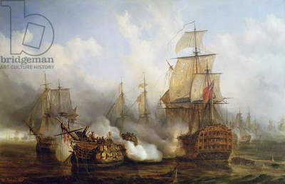 The Redoutable at Trafalgar, 21st October 1805 (oil on canvas)