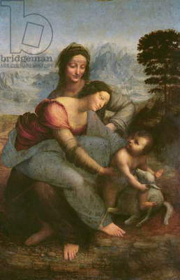 Virgin and Child with St. Anne, c.1510 (oil on panel)