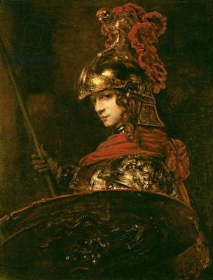 Pallas Athena or, Armoured Figure, 1664-65 (oil on canvas)