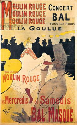 Poster advertising 'La Goulue' at the Moulin Rouge, 1893 (litho)