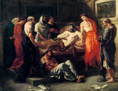 Study for The Death of Marcus Aurelius (121-180), before 1844 (oil on canvas