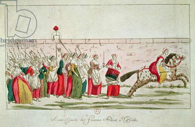 March of the Women on Versailles, 5th October 1789 (coloured engraving) (see also 78695)