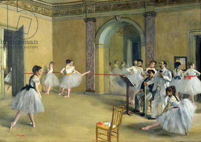 The Dance Foyer at the Opera on the rue Le Peletier, 1872 (oil on canvas)