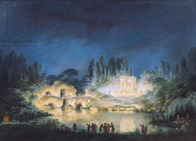 Illumination of the Belvedere at the Petit-Trianon, 1781 (oil on canvas)