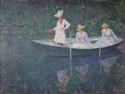 The Boat at Giverny, c.1887 (oil on canvas)