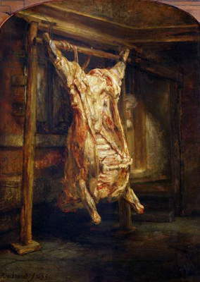 The Slaughtered Ox, 1655 (oil on canvas)