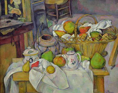 Still life with basket, 1888-90 (oil on canvas)