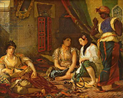 The Women of Algiers in their Apartment, 1834 (oil on canvas)