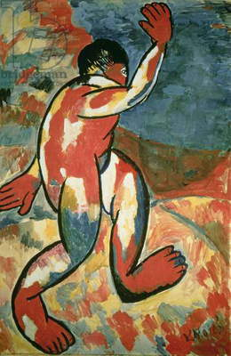 A Bather, 1911 (gouache on paper)