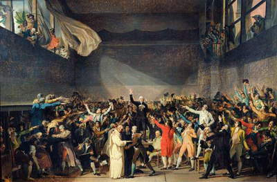 The Tennis Court Oath, 20th June 1789, 1791 (oil on canvas)