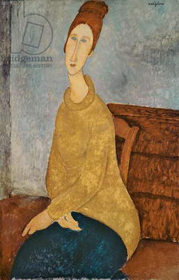 Jeanne Hebuterne in a Yellow Jumper, 1918-19 (oil on canvas)