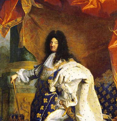 Louis XIV in Royal Costume, 1701 (oil on canvas) (detail of 59867)