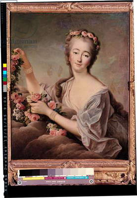 Portrait of the Countess du Barry (1743-93) as Flora (oil on canvas)